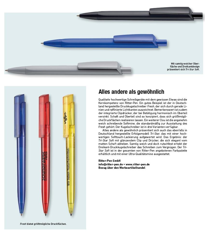 Kugelschreiber Schreibgeräte Tri-Star Soft Fresh Transparent Ritter Pen