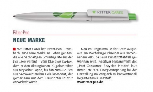 95900 CREST RECYCLED_RITTER CARES_RITTER-PEN